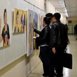 076 150x150 - Resim Öğrencilerinin Çalışmaları Sergileniyor