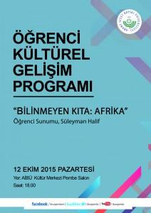 Kültürel Gelişim Programı Afiş