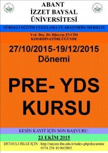 PRE-YDS Kursu