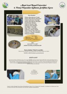 6. Deney Hayvanları Kullanım Kursu Afiş