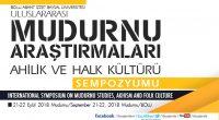 Uluslararası Mudurnu Araştırmaları, Ahilik ve Halk Kültürü Sempozyumu,21-22 Eylül 2018, Mudurnu sempozyum daveti-1
