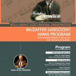 afiş 150x150 - Muzaffer Sarısözen'i Anma Programı