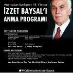 5mart19afs 150x150 - 5 Mart İzzet Baysal'ı Anma Programı