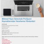 KütüphaneEğitim 150x150 - Bilimsel Yayın Süresinde ProQuest Kaynaklarından Yararlanma Yöntemleri / Seminer