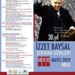48x68cm afis2019 150x150 - İzzet Baysal Şükran Günleri / 10-11-12 MAYIS 2019