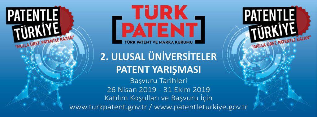 Afis 1024x378 - Türk Patent ve Marka Kurumu 2. Ulusal Üniversiteler Patent Yarışması Başvuruları (26 Nisan – 31 Ekim 2019)