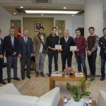 DSC 0321 150x150 - SEDAŞ Proje Fikri Yarışması'nda Ödül Alan Öğrencilerden Rektör Alişarlı'ya Ziyaret
