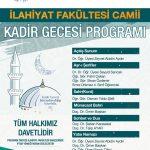 Kadir gecesi afiş 150x150 - BAİBÜ İlahiyat Fakültesi / Kadir Gecesi Programı
