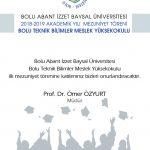 btbmyo davetiye 150x150 - BAİBÜ 2018-2019 Bolu Teknik Bilimler Meslek Yüksekokulu Mezuniyet Töreni