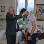 DSC 6394 150x150 - Avrupa Gençler Güreş Şampiyonası'ndan Madalyayla Dönen Abdülvasi Balta'dan Rektör Alişarlı'ya Ziyaret