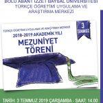 afiş 150x150 - BAİBÜ 2018-2019 Türkçe Öğretimi Uygulama ve Araştırma Merkezi Mezuniyet Töreni