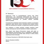 15 temmuz mesajı 2 150x150 - 15 Temmuz Demokrasi ve Milli Birlik Günü Mesajı