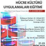 hücre kulturu afis 150x150 - Hücre Kültürü Uygulamaları Eğitimi (21- 23 EKİM 2019)