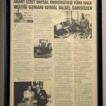 DSC 7609 150x150 - Muzaffer Sarısözen Vefa Ödülü, BAİBÜ'den Kemal Bilsel Sarısözen'e Verildi