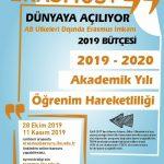 Ka107 150x150 - 2019-2020 Bahar Dönemi Erasmus+ Uluslararası Öğrenci Öğrenim Hareketliliği Başvuru İlanı – I. Çağrı (Ka107)