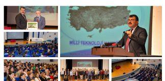 """Tubitak baskani konferans Banner 324x160 - Üniversitemizde """"Kariyerine Işık Tut"""" Projesi Protokolü İmzalandı"""