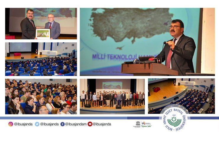Tubitak baskani konferans Banner 741x486 - AİBÜ'de Üretilen NürFET Teknolojisi ASELSAN'a Tanıtıldı