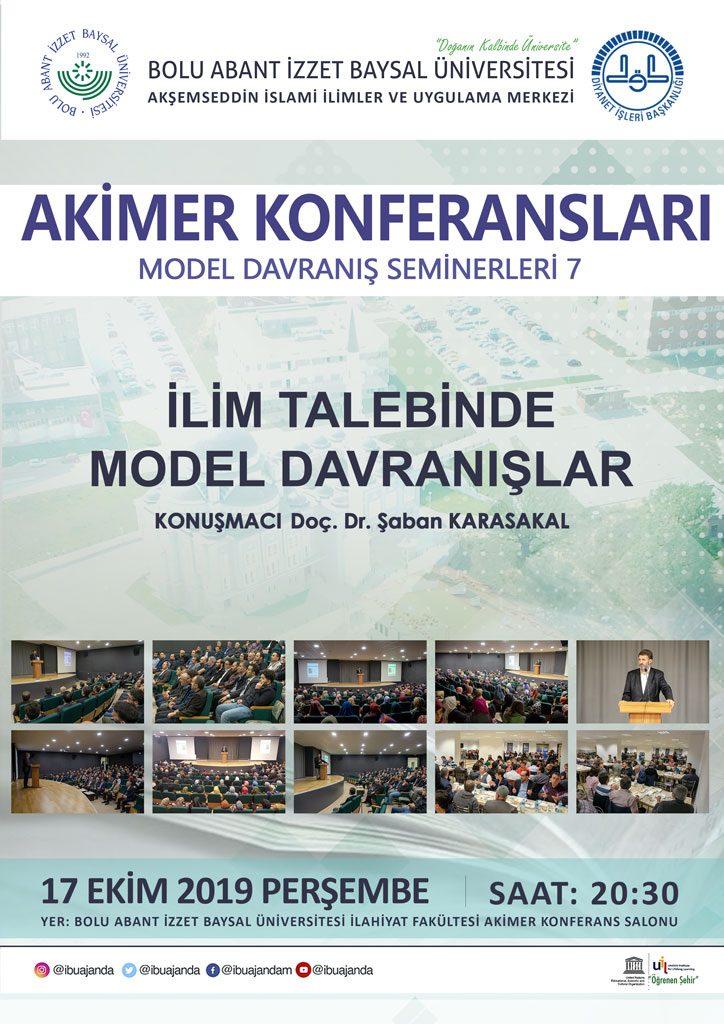 """akimer konferansları 12 724x1024 - 2019-2020 Güz dönemi""""AKİMER Model Davranış Seminerleri"""" yeniden başlıyor"""