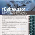 3501 150x150 - TÜBİTAK 3501 Kariyer Geliştirme Programı Proje Yazma Etkinliği Başlıyor
