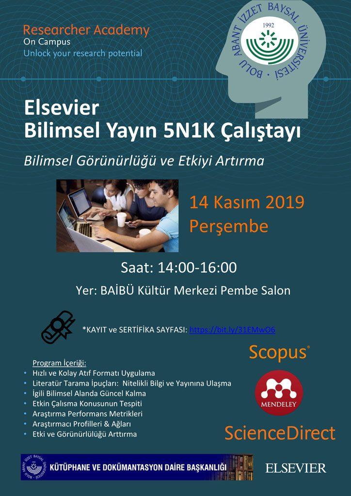 ELS PK 5N1K Training Tur 724x1024 - Elsevier Bilimsel Yayın 5N1K Çalıştayı (Science Direct, Scopus, Mendeley Kullanıcı Eğitimi)