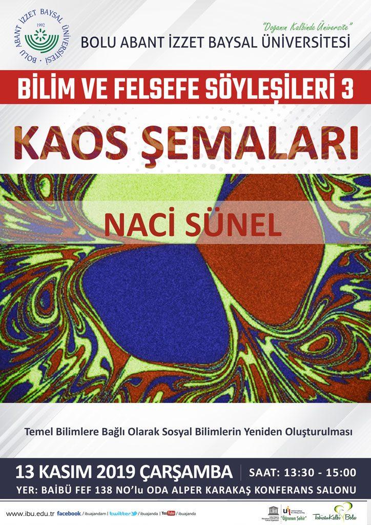 Kaossemaları 724x1024 - Bilim ve Felsefe Söyleşileri 3 / Kaos Şemaları - Konferans