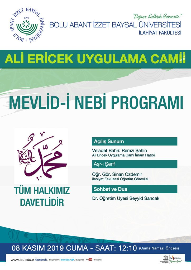mevlidinebiafiş son 724x1024 - İlahiyat Fakültesi / Mevlid-i Nebi Programı