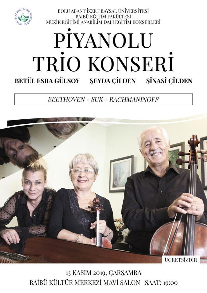 trio 724x1024 - BAİBÜ Müzik Eğitimi Anabilim Dalı Konserleri / Piyanolu Trio Konseri
