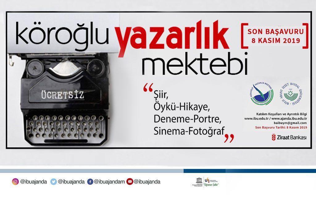 yazarlikbanner 1024x678 - III. Köroğlu Yazarlık Mektebi Projesi Başvuruları