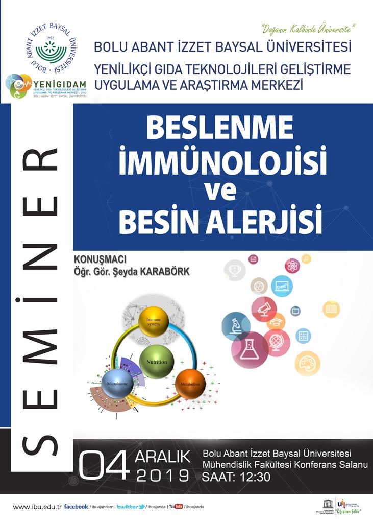 yenigidam 2019 - Besin İmmünolojisi ve Besin Alerjisi / Konferans