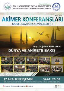akimer konferansları 11 212x300 - AKİMER- Model Davranış Seminerleri 11 / Dünya ve Ahirette Bakış
