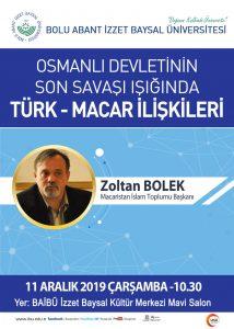 macarafis 214x300 - Osmanlı Devletinin Son Savaşı Işığında Türk-Macar İlişkileri / Konferans