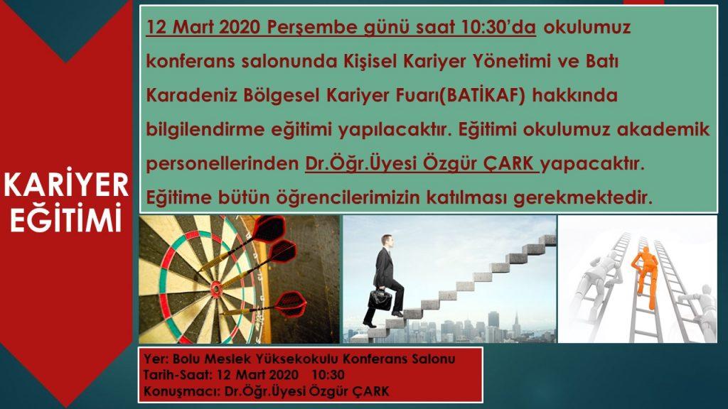 .Ç 1024x576 - Kişisel Kariyer Yönetimi ve Batı Karadeniz Bölgesel Kariyer Fuarı (BATİKAF) Eğitimi