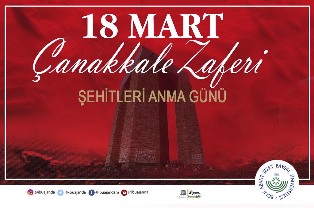 18mart2020 banner - 18 Mart Çanakkale Zaferi ve Şehitleri Anma Günü Mesajı