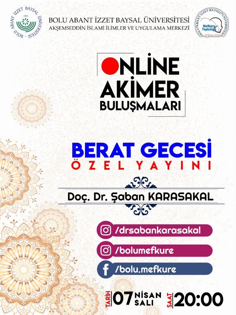 Online Akimer Berat Gecesi Özel 767x1024 - AKİMER Konferansları Berat Gecesi Programı Canlı Yayını